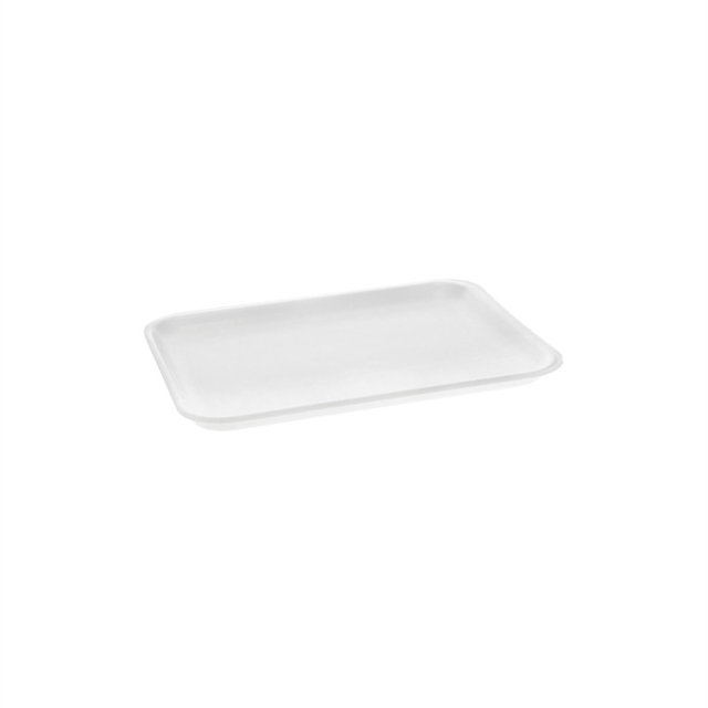 4S WHITE SUPERMARKET MEAT TRAY
