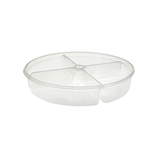 10 in Round 64oz Tub 4 Compartments