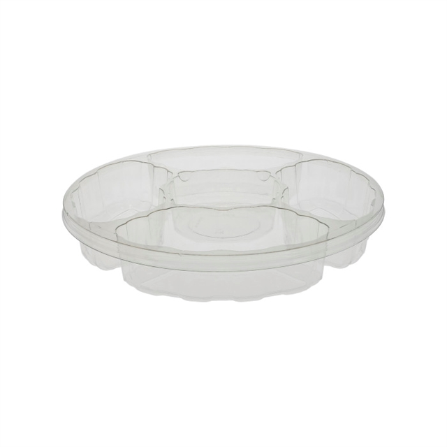 13in Rnd Pltr 8oz Dip Cup 2.2in 4 Cells