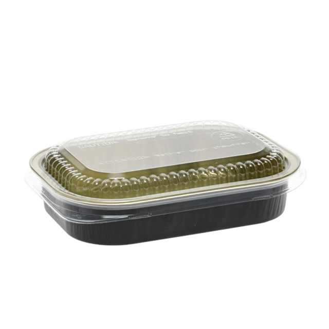 16OZ ALUMINUM CLSSIC CARRY OUT TRAY&DOME