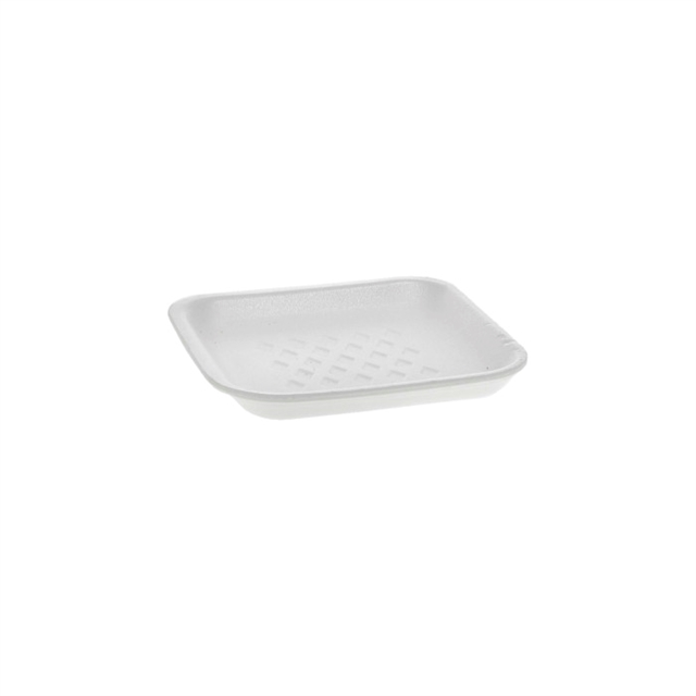 1S WHITE SUPERMARKET TRAY