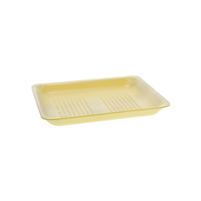 8PZ  YELLOW SUPERMARKET TRAY