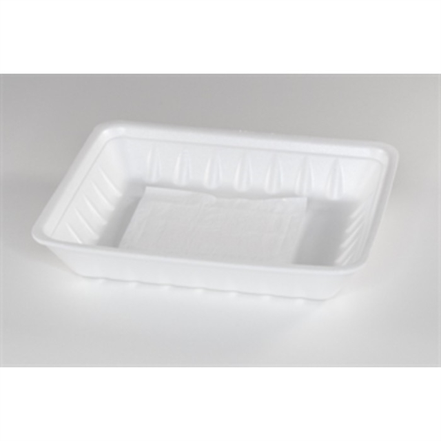 809P WHITE PROCESSOR TRAY W/ SAP PAD