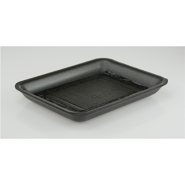 11P BLACK PROC TRAY W/ PAD 2/75