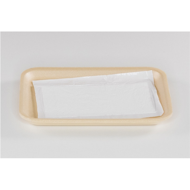 2S BEIGE PROC TRAY WITH POUCH PAD