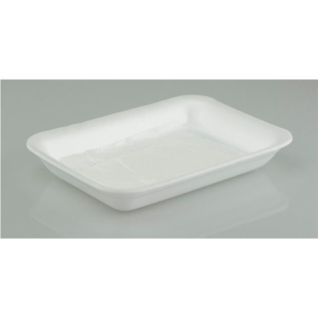 7D WHITE PROC TRAY WITH POUCH PAD