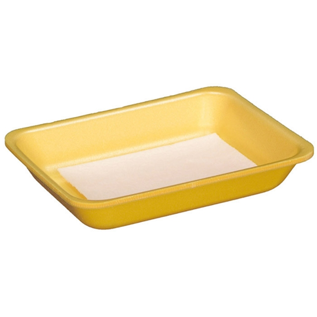 7D YELLOW PROCESSOR TRAY W/PAD