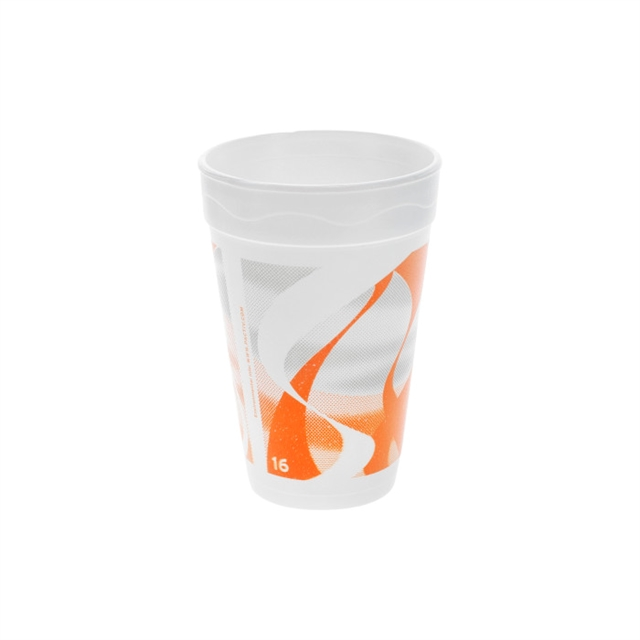 16OZ EPS FOAM PRT CUP WAVES 40-25