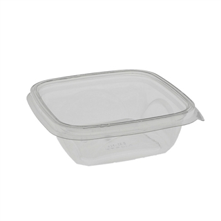 "12 oz 5"" x 5"" Clear Square Bowl Base"