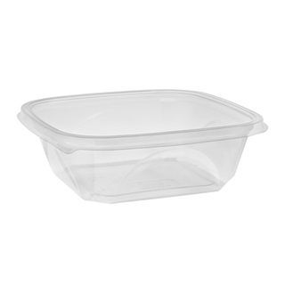 "32 oz 7"" x 7"" Clear Square Bowl Base"