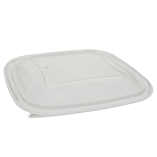 48 - 64  oz Clear Sq Bowl Dome Lid 9 X 9