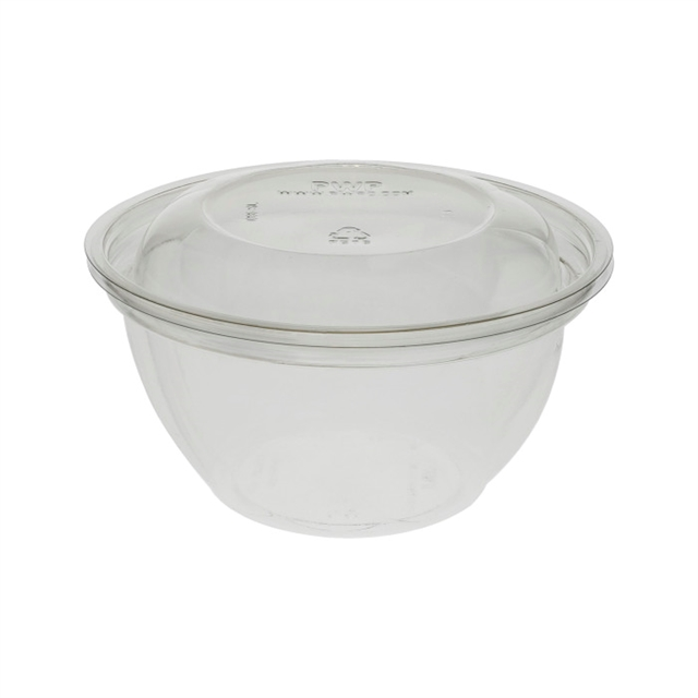 "5"" 16OZ SWIRL BOWL W/JUICE TRAP W/LID"