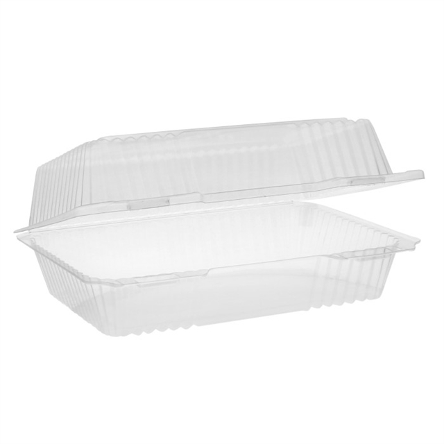 OPS CLEARVIEW RECT HING LID DEEP-CLEAR