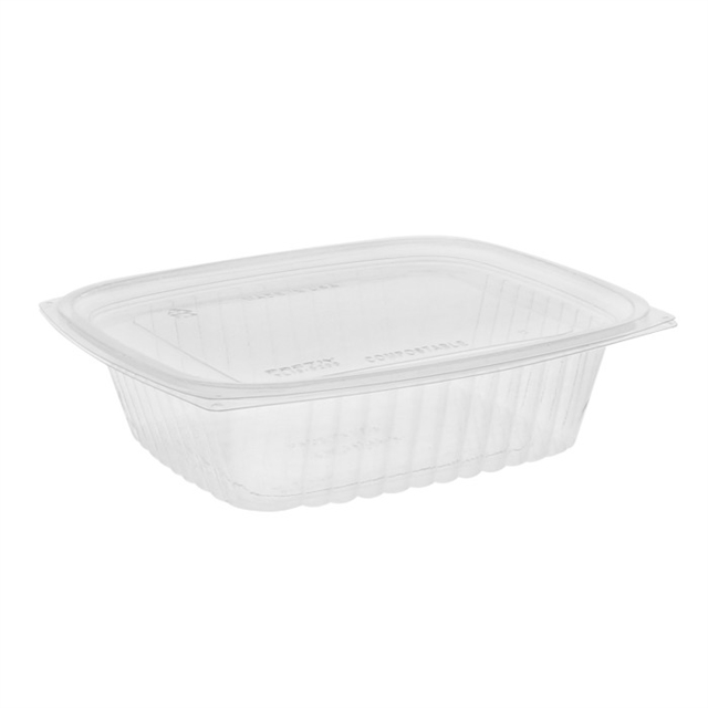 PLA 24 oz. Clear Deli Container w/ Lid