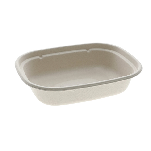 BAGASSE 6X8 RECTANGLE TRAY 28 OZ