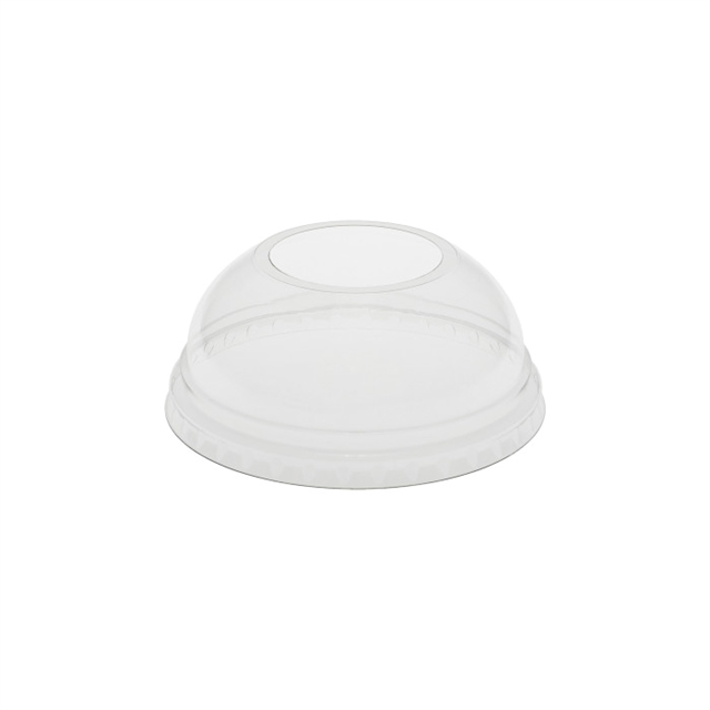 32OZ CLEAR DOME LID W/ HOLE 6-80 BG