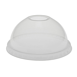 CLEAR PLA DOME LID W/ HOLE FOR B LID SER