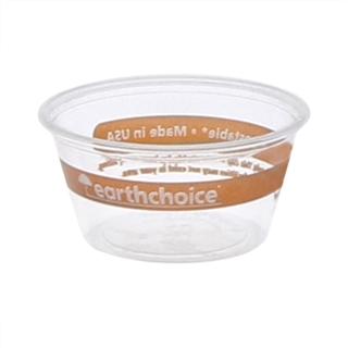 2oz PLA Clear Prntd Earthchoice Cup